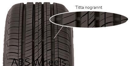 Slitageindikator på däcket