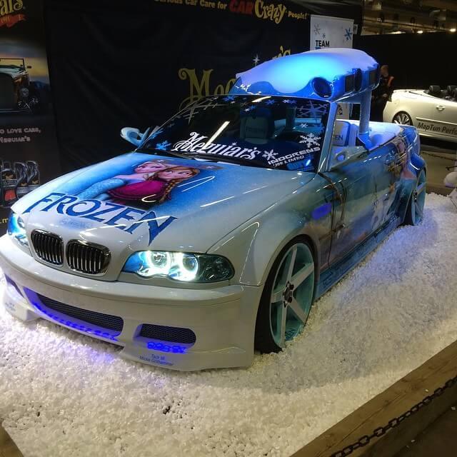 Team Frozen BMW med fälgar