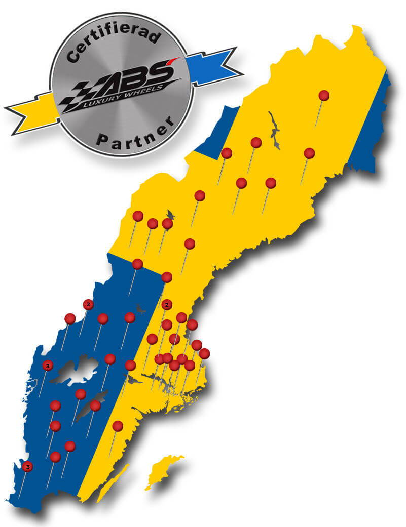 Certifierade ABS Wheels verkstäder i Sverige