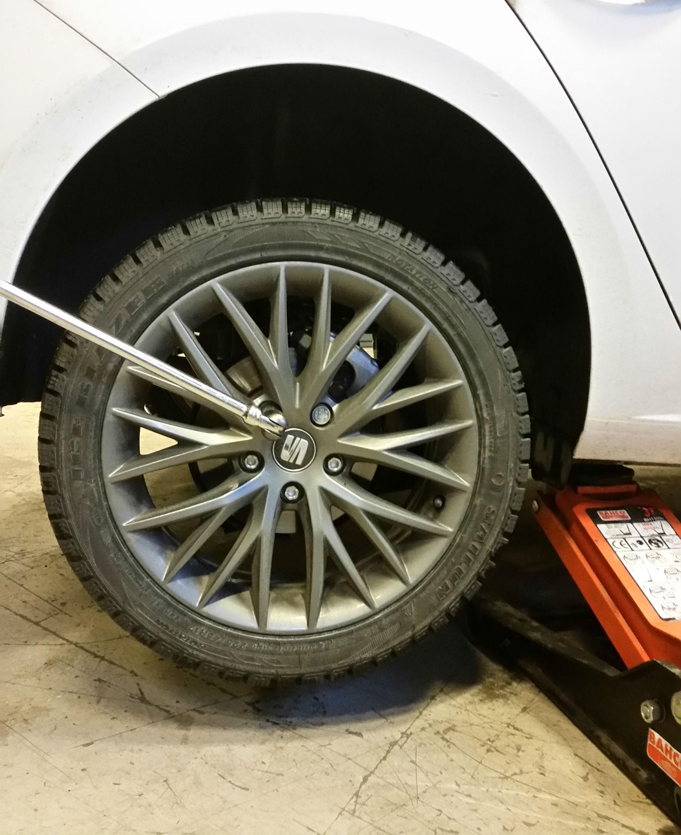 fälgkors för att byta däck