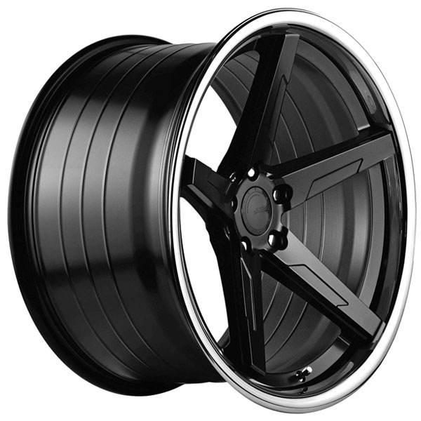 ABS F55 BLACK / SS LIP 19x9.5 ET35 CB74.1 5x108-120