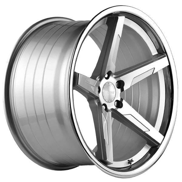 ABS F55 SILVER / SS LIP 20x8.5 ET35 CB74.1 5x108-120