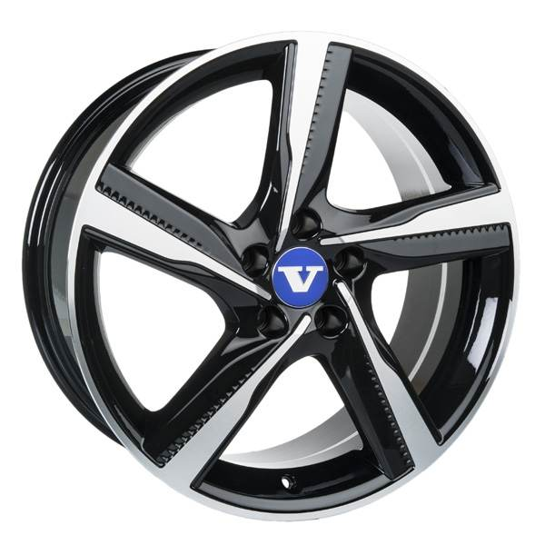 V Wheels Tornado Titanium Polished 5 ET 42 CB 63.4 - Tornado Titanium Polished