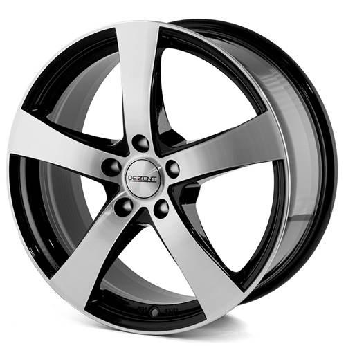 DEZENT RE black polished 5 ET 40 CB 66.6 - RE black polished