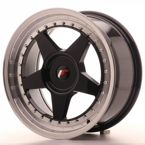 JAPAN RACING JR6 Black 17x8.0 ET35 CB74.1 5x112