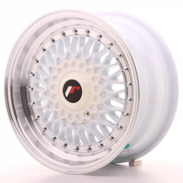 JR Wheels JR9 15x7 ET20 4x100/108 White w/Machined Lip