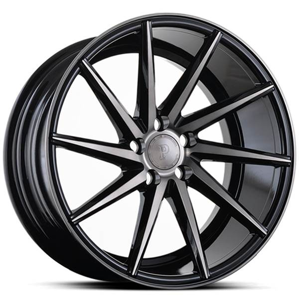 Platinum P5Left BLACK DARK TINT 19x9.5 ET38 CB74.1 5x108-120