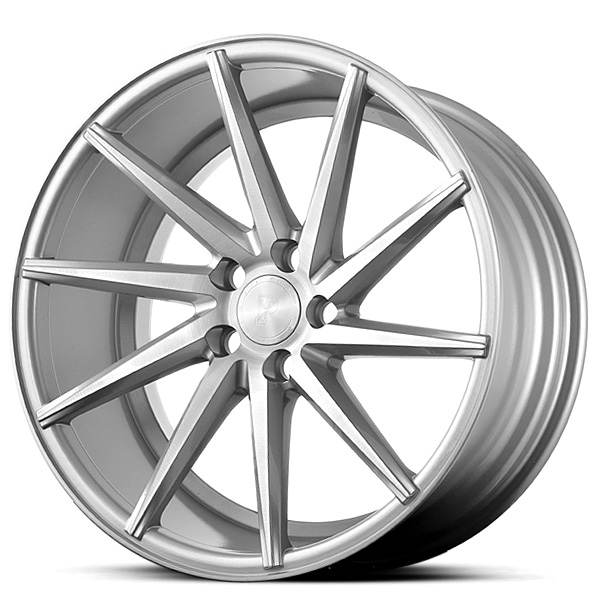Platinum P5Right SILVER BRUSH FACE 5x120 ET 38 CB 74.1 - Platinum Wheels