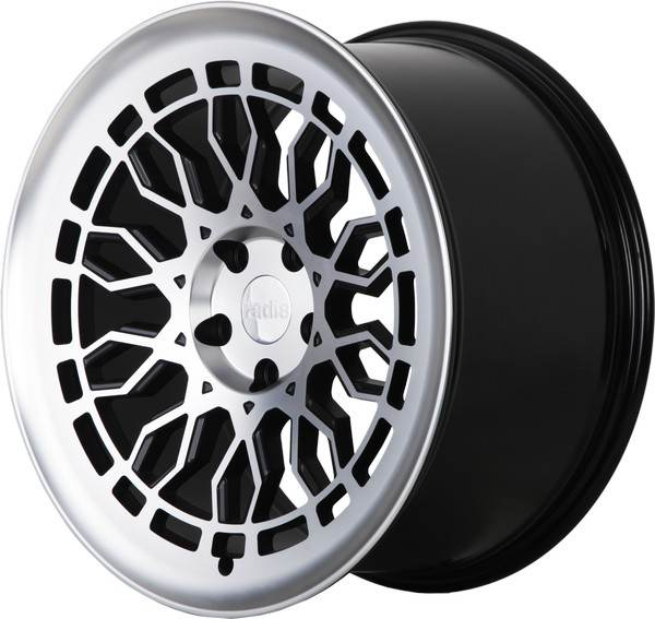 R8-A10 RADI8 R8-A10 Gloss Black Machined Face 19x10 5/112 N66,6