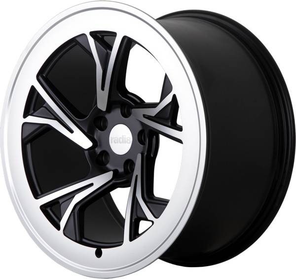 R8-C5 RADI8 R8-C5 Gloss Black Machined Face 19x8,5 5/112 N66,6
