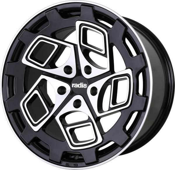 R8-CM9 RADI8 R8-CM9 Gloss Black Machined Face 18x8,5 5/112 N66,6