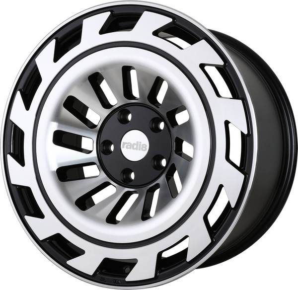 RADI8 R8-T12 Gloss Black Machined Face 5 ET 40 CB 66.6 - R8-T12