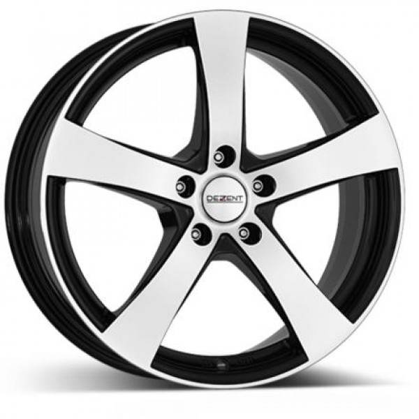 DEZENT RE black polished 5 ET 40 CB 70.1 - RE black polished