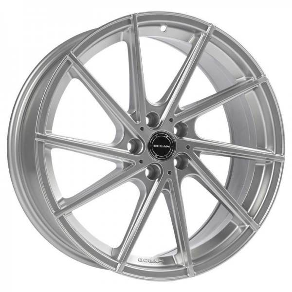 OCEAN WHEELS OC 01 Bright Silver 5 ET 40 CB 72.6 - WHEELS OC 01 Bright Silver