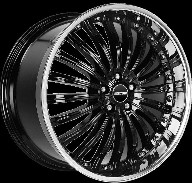 GMP Exclusive Shiny Black Inox Lip 6 ET 55 CB 84.1 - Exclusive