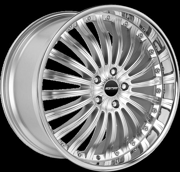 GMP Exclusive Silver Inox Lip 6 ET 55 CB 84.1 - Exclusive