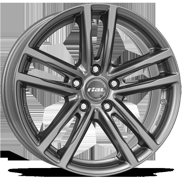 Rial X10 Metal Grey 5 ET 46 CB 74.1