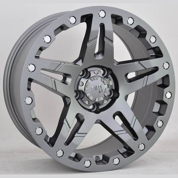 D66 Flatgunmetal 5 ET 25 CB 65.1 - Flatgunmetal