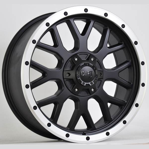 D69 Flatblack machined lip 6x135 ET 25 CB 106.1 - Flatblack machined lip