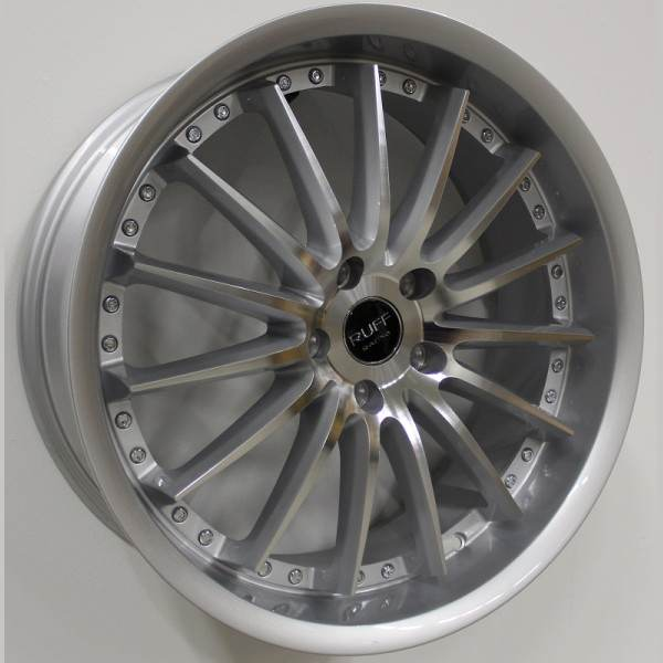 R981 Silver machined 5 ET 38 CB 73.1 - Silver machined