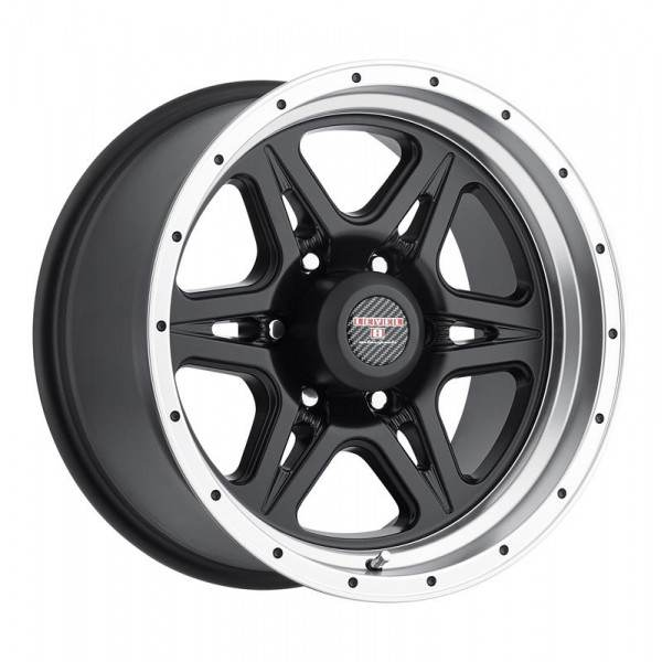 STRIKE 6 MATTE BLACK W MACHINED CUT LIP 6 ET -12 CB 83.7 - 6 MATTE BLACK W MACHINED CUT LIP
