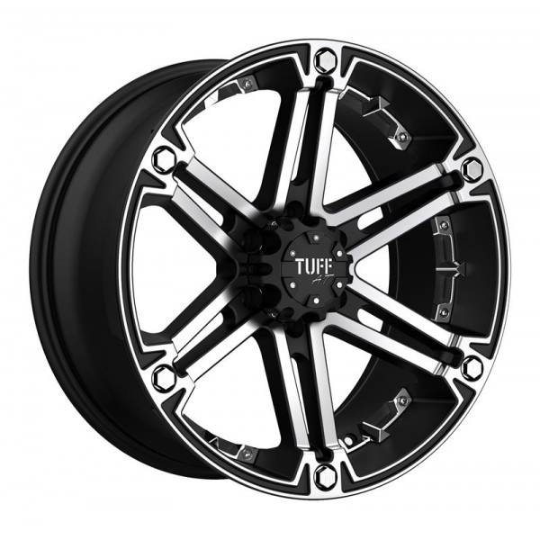 T01 FLAT BLACK W  MACHINED FACE AND CHROME INSERTS 5 ET -13 CB 108 - FLAT BLACK W  MACHINED FACE AND CHROME INSERTS