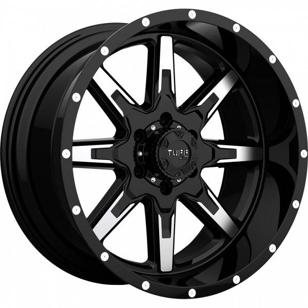 T15 GLOSS BLACK W MACHINED FACE 5 ET -19 CB 78.1 - GLOSS BLACK W MACHINED FACE