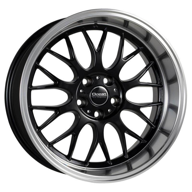 OCEAN WHEELS Super DTM Black Polish Lip 5 ET 6 CB 65.1 - WHEELS Super DTM Black Polish Lip
