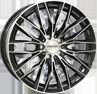 10,0X20 MONACO GP2 5/120 ET40 CH72,6 Gloss Black / Polished 5 ET 40 CB 72.6