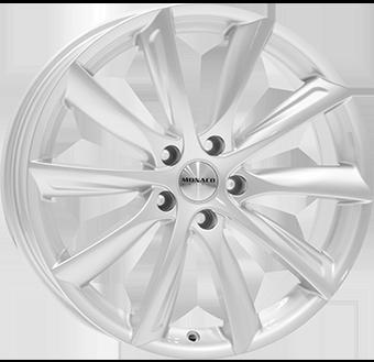 10,0X20 MONACO GP6 5/112 ET45 CH66,5 Silver 5 ET 45 CB 66.5