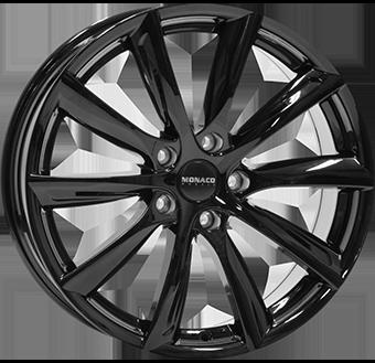 10,0X20 MONACO GP6 5/120 ET45 CH74,1 Gloss Black 5 ET 45 CB 74.1
