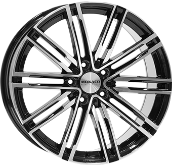 10,5X20 MONACO GP7 5/130 ET55 CH71,6 Gloss Black / Polished 5 ET 55 CB 71.6