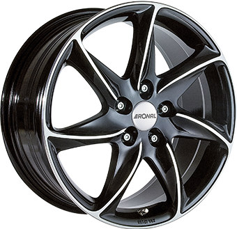 6,5X15 RONAL R51 5/100 ET38 CH68 Gloss Black / Polished 5 ET 38 CB 68 - RONAL
