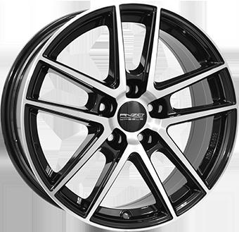 6,5X16 ANZIO SPLIT 5/114,3 ET50 CH70,1 Gloss Black / Polished 5 ET 50 CB 70.1 - ANZIO