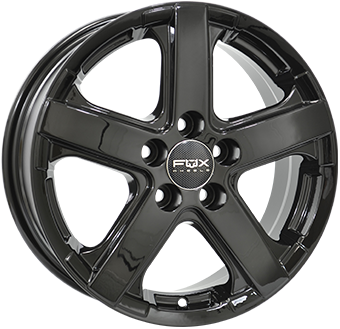 6,5X16 FOX VIPER VAN 5/130 ET50 89,1 950 KG Gloss Black 5 ET 50 CB 89.1 - FOX