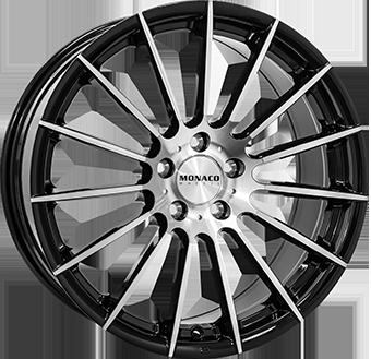7,5X17 MONACO FORMULA 5/112 ET45 CH66,5 Gloss Black / Polished 5 ET 45 CB 66.5 - MONACO