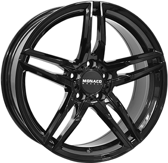 7,5X17 MONACO GP1 5/108 ET45 CH63,4 Gloss Black 5 ET 45 CB 63.4 - MONACO