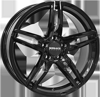 7,5X17 MONACO GP1 5/120 ET35 CH72,6 Gloss Black 5 ET 35 CB 72.6 - MONACO