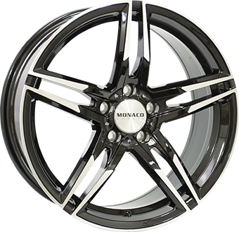 7,5X17 MONACO GP1 5/120 ET35 CH72,6 Gloss Black / Polished 5 ET 35 CB 72.6 - MONACO