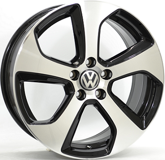 7,5X18 VW AUSTIN 5/112 ET49 CH57,1 DEMO!!! Gloss Black / Polishe 5 ET 49 CB 57.1 - OEM Original