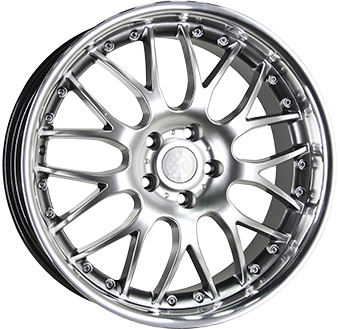 8,0X18 MESH II INOX 046 5/112 ET45 CH73,1 Silver / Stainless Ste 5 ET 45 CB 73.1 - INTER ACTION