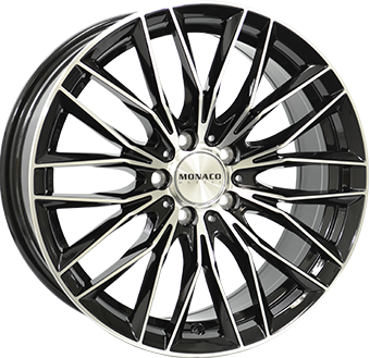 8,0X18 MONACO GP2 5/100 ET37 CH57,1 Gloss Black / Polished 5 ET 37 CB 57.1 - MONACO
