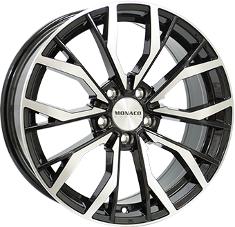 8,0X18 MONACO GP5 5/100 ET37 CH57,1 Gloss Black / Polished 5 ET 37 CB 57.1 - MONACO