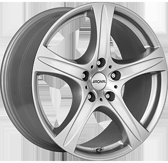 8,5X18 RONAL R55 SUV 5/127 ET38 CH71,6 Crystal Silver 5 ET 38 CB 71.6 - RONAL
