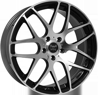 8,5X19 SOLEIL LXM-1 5/112 ET45 CH73,1 Gloss Black / Polished 5 ET 45 CB 73.1 - SOLEIL