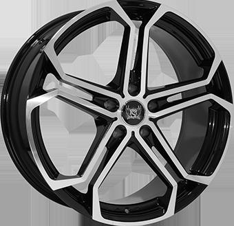 8,5X20 SOLEIL LXS-1 5/130 ET45 CH71,6 Black Metallic / Polished 5 ET 45 CB 71.6 - SOLEIL
