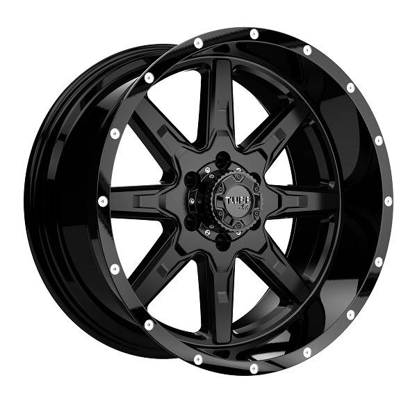 T15 SATIN BLACK W GLOSS BLACK LIP 6 ET -19 CB 106.1 - SATIN BLACK W GLOSS BLACK LIP