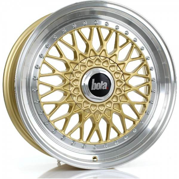 BOLA TX09 GOLD POLISHED LIP 5x98 ET 20-38 CB 74.1